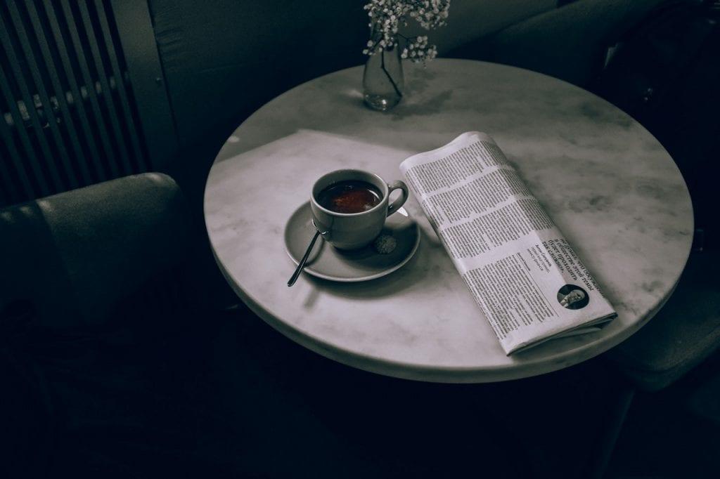 Ontspannen koffie drinken