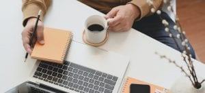 Koffiebreak tijdens het werk